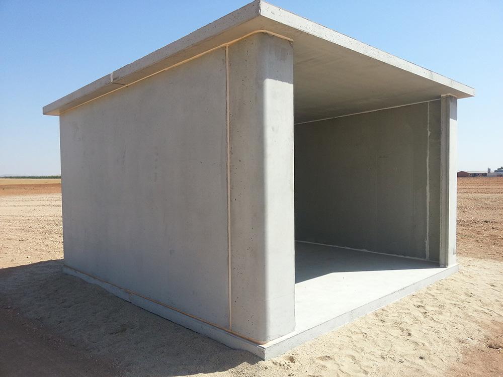 Caseta prefabricada de hormigón